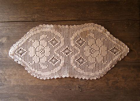 table runner for oval table crochet table runner hearts oval tablecloth listed by