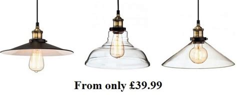 vintage style glass pendant lights from 163 39 99