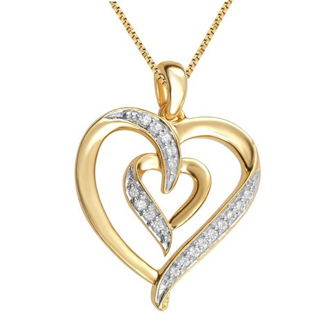 Yellow Gold Plated Brass Dual Heart Pendant Necklace With. March Rings. Crystal Swarovski Watches. Toggle Necklace. 11 Carat Diamond. Hope Bracelet. Genuine Emerald Pendant. Sugilite Pendant. Fancy Chains