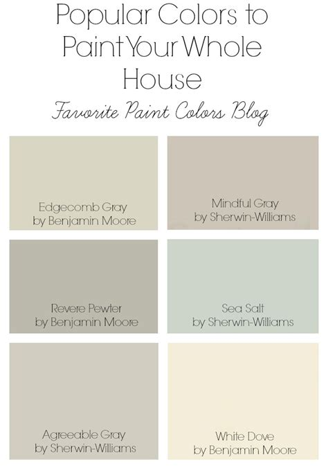 popular paint colors color combinations favorite paint colors