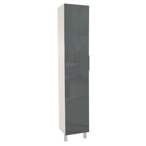 colonne cuisine 50 cm colonne de cuisine l 40 cm gris brillant achat vente