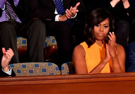 michelle obama steals the show in yellow dress at state of