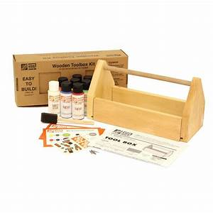 kids wooden toolbox and paint kit 67389 the home depot With paint for wood furniture home depot