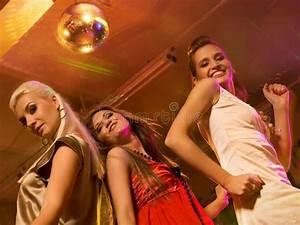 Girls Dancing In The Night Club Stock Image - Image: 11493343