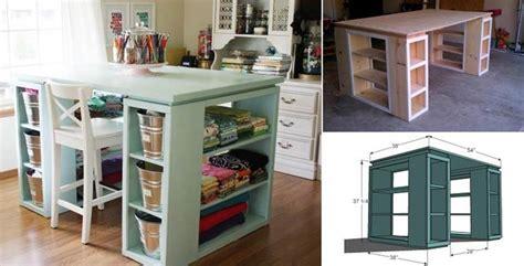 How To Build Modern Diy Craft Table Beesdiycom