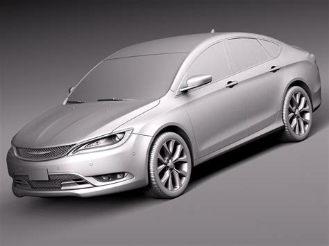 standard chrysler 200 chrysler 200 2015 3d model max obj 3ds fbx c4d lwo
