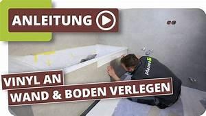 Vinyl Fliesen Bad Wand : bad abdichten vinyl an wand und boden verlegen youtube ~ A.2002-acura-tl-radio.info Haus und Dekorationen