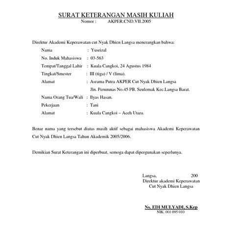Surat Pernyataan Kuliah Suratmenyuratnet