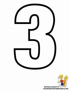 Free coloring pages of the number 3 for Printable number 3
