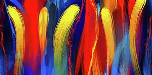 Be Bold - Primary Colors Abstract Art Painting by Lourry