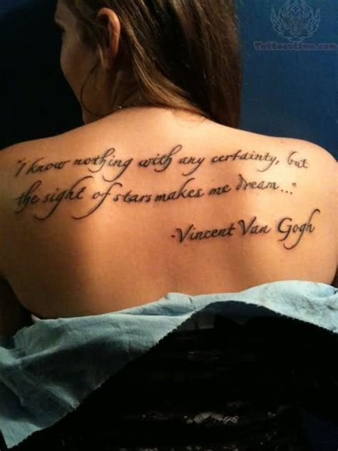 dream quote tattoo