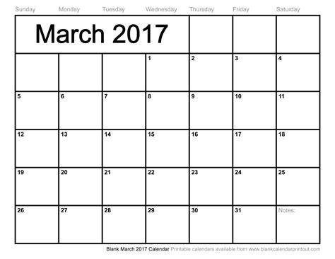 blank calendar template 2017 march 2017 calendar printable with holidays weekly calendar template