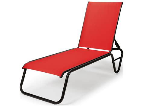 Telescope Chaise Lounge by Telescope Casual Gardenella Sling Aluminum Lay Flat Chaise