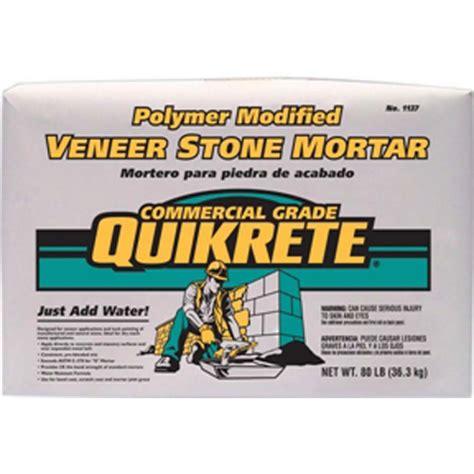 shop quikrete veneer polymer modified 80 lb gray