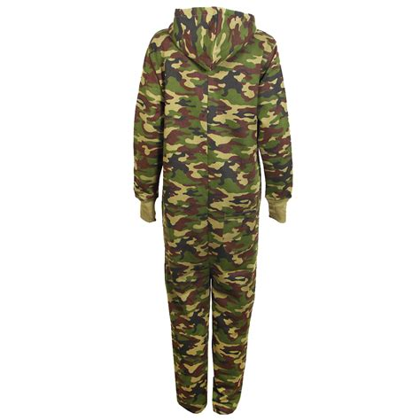 camouflage jumpsuit childrens camo fleece hooded army green jumpsuit all