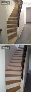 Habillage Escalier Interieur : les 25 meilleures id es de la cat gorie habillage escalier ~ Premium-room.com Idées de Décoration
