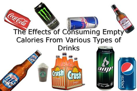 The Health Effects Of Consuming Empty Calories In Drinks