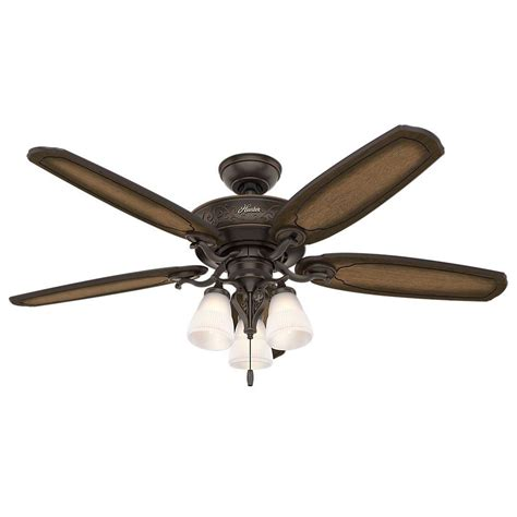 hunter eurus 54 in indoor brushed nickel ceiling fan with