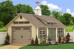 new backyard portable storage sheds and barns from the With amish garage kits