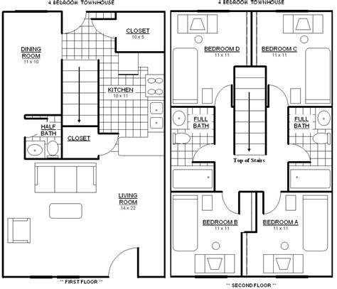 bedroom townhouse plans 1 bedroom cabin floor plan studio design gallery