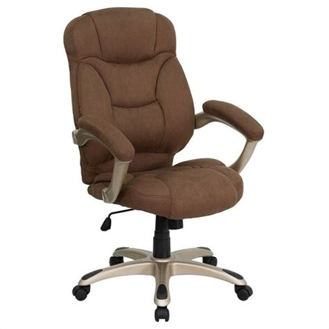 high back upholstered office chair in brown go 725 bn gg