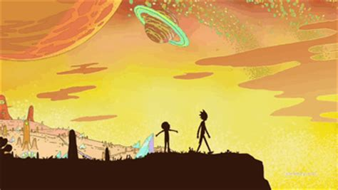 rick  morty scenery tumblr