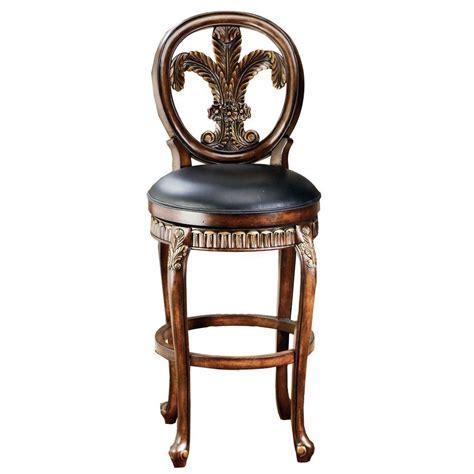 fleur de lis bar stools hillsdale furniture fleur de lis 31 in warm cherry swivel cushioned bar stool 62970 the home