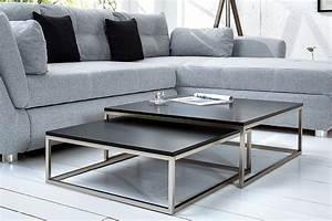 Couchtisch Set Rund : design couchtisch 2er set big fusion matt schwarz ~ Whattoseeinmadrid.com Haus und Dekorationen