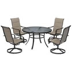 garden oasis miranda 5 dining set outdoor living patio furniture dining sets