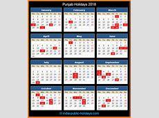 Punjab Holidays 2018