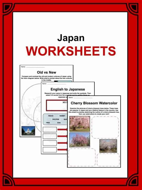japan facts worksheets history culture geography for