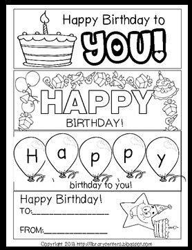 printable birthday bookmarks  color teacher birthday