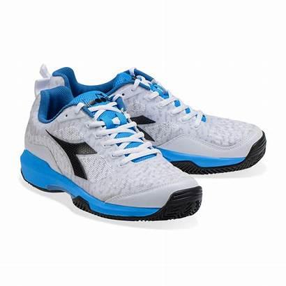 Diadora Clay Tennis Uomo Scarpa Grigia Azzurra