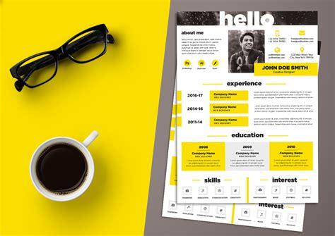 creative resume cv design template psd file good