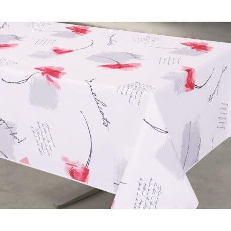nappe motif floral toile cir 233 e en pvc sur mesure poppies