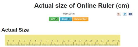 ruler actual sizeinch cm  draggable