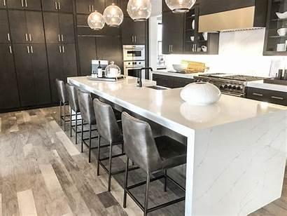 Calacatta Quartz Ultra Countertops Kitchen Island Sky
