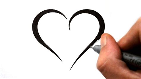 draw  simple tribal heart tattoo design  youtube