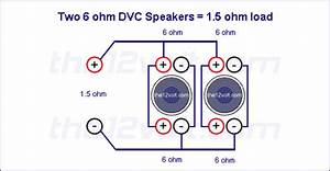 Subwoofer Wiring Diagrams For Two 6 Ohm Dual Voice Coil