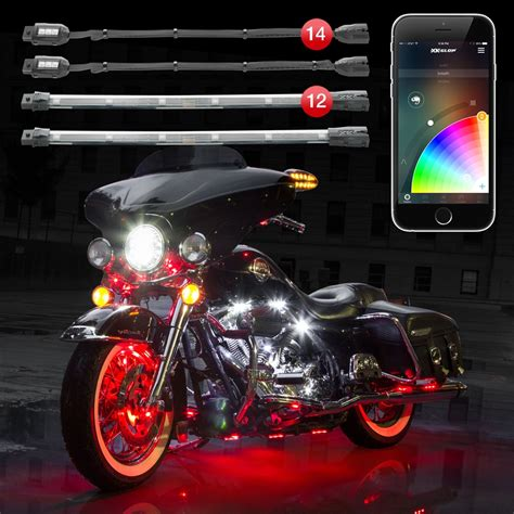 led lights for motorcycles xkchrome ios android app bluetooth advanced 14 pod