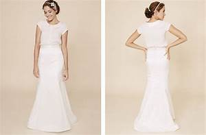 simple wedding dresses two piece bridal gown 2 onewedcom With wedding two piece dress