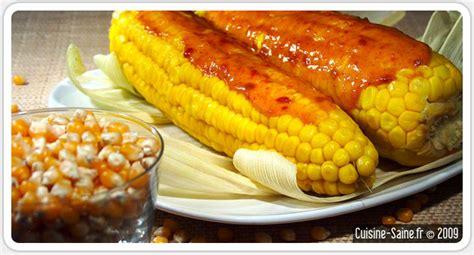cuisiner des epis de mais recette bio épis de maïs à la crème de soja