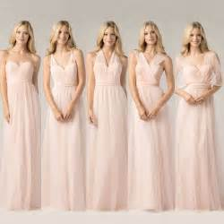 tulle bridesmaid dresses tulle convertible bridesmaid dresses strapless gown sleeveless sweetheart floor length wedding