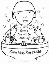 Hands Coloring Signs Wash Washing Care Health Raise Awareness sketch template