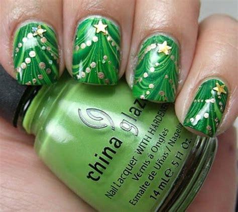 christmas tree nails nail designs pinterest