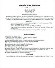 professional resume language skills professional foreign language templates to