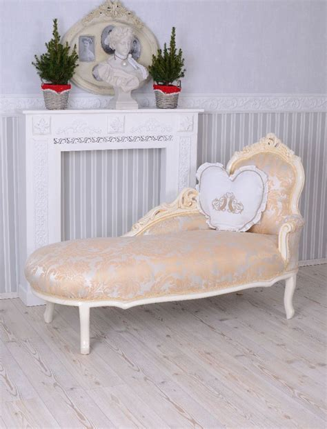 chaise cagne chic vintage sofa rococo recamiere chaise longue shabby chic