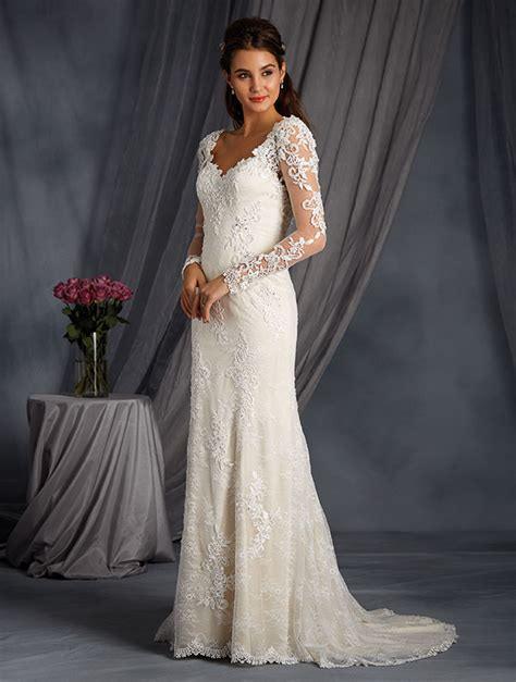 dress alfred angelo bridal  collection  lace