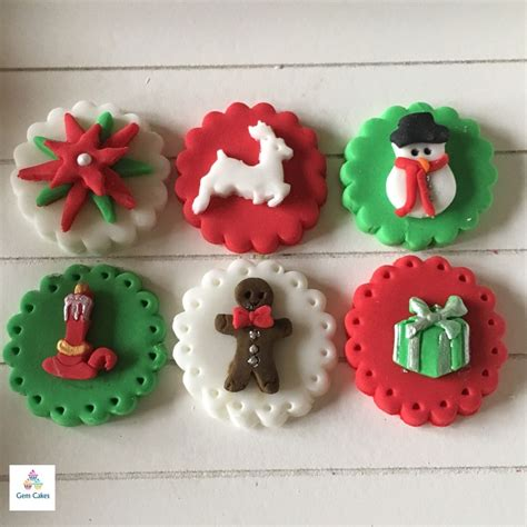 edible christmas cake cupcake decorations toppers