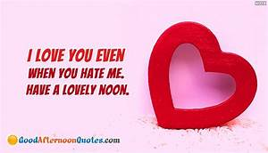 Good Afternoon Quotes for My Love